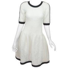 Chanel Quilted Lurex Drop-Waist Dress