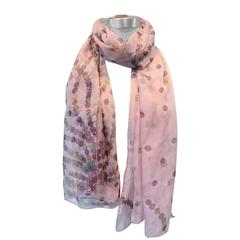 Hermes Pink Sheer Chiffon Silk Scarf
