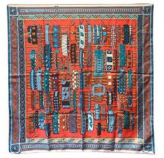 Hermes Colliers de Chiens Silk Scarf