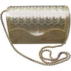 Saks Fifth Avenue Opulent Gilt Metal Evening Bag c 1970s