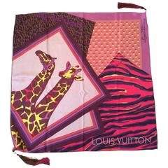 Limited Edition Louis Vuitton Silk Scarf with Tassels