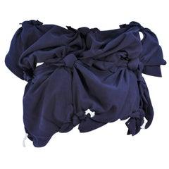 COMME DES GARÇONS Navy Knot Blouse Size XS