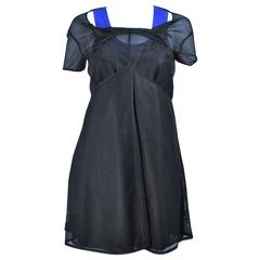 COMME DES GARCONS Draped Black Mesh Net Dress Ensemble Size S