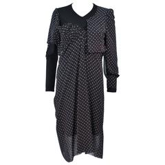COMME DES GARCONS JUNYA WANTANABE Black and White Polka Dot Dress Size S