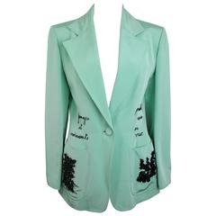 Franck Sorbier Mint Embroidered Jacke