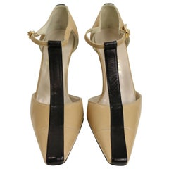 Chanel Bi Tones Slingback Heels