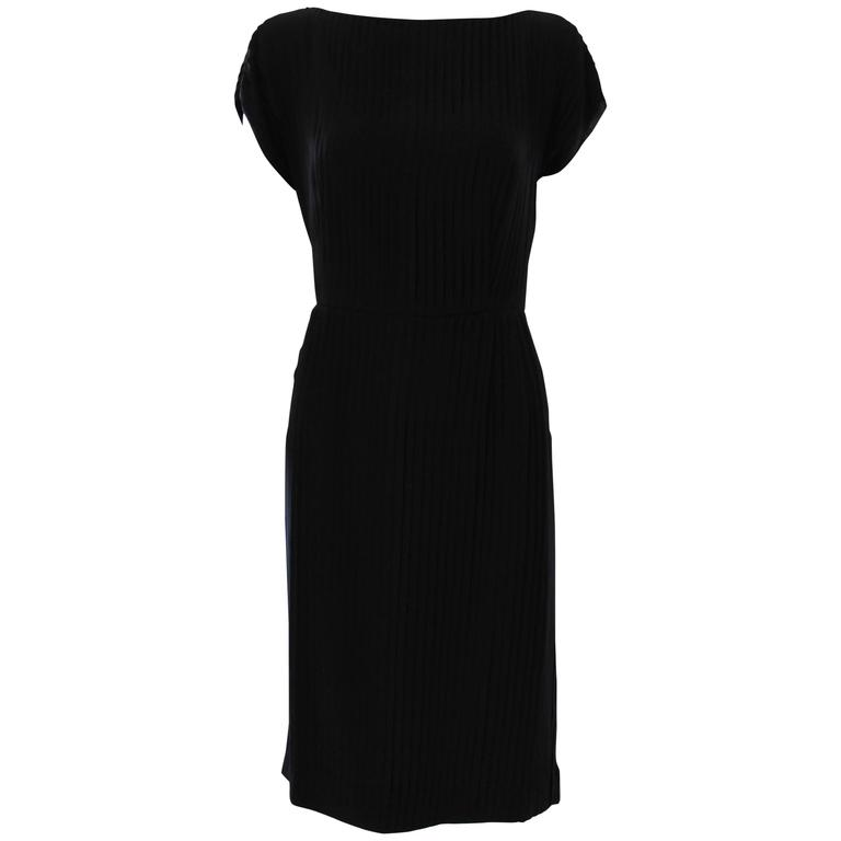 Akris Pleated Black Dress