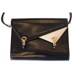 Leather Gucci Crossbody Bag with Gold Bejeweled Hardware