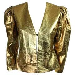 Bill Blass Metallic Leather Jacket, 1980s