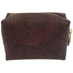 Etro Brown Paisley Makeup Case