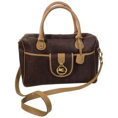 Etro Brown Paisley Printed Handbag