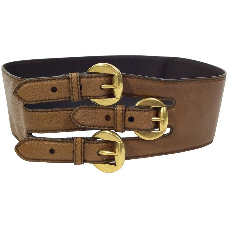 Alexander McQueen Triple Buckle Belt 1