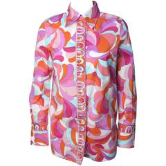 Classic Pucci Print Cotton Blouse