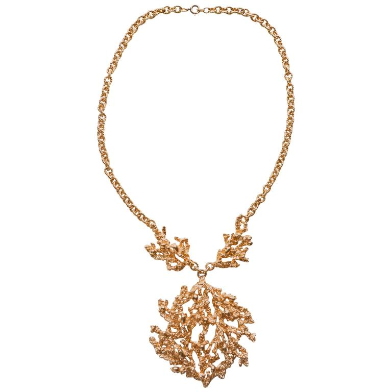 Napier Brutalist Nugget Necklace by Eugene Bertolli For ...