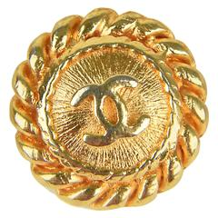 1980's  Seventeen Vintage Chanel Gilt Rope and Sunburst Design Buttons