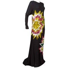 Tom Ford embellished pop art inspired black evening dress, c. 2013