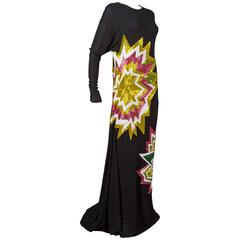 Tom Ford embellished pop art inspired black evening dress, c. 2013