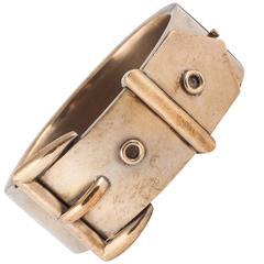 Fantastic gold washed Victorian buckle bracelet