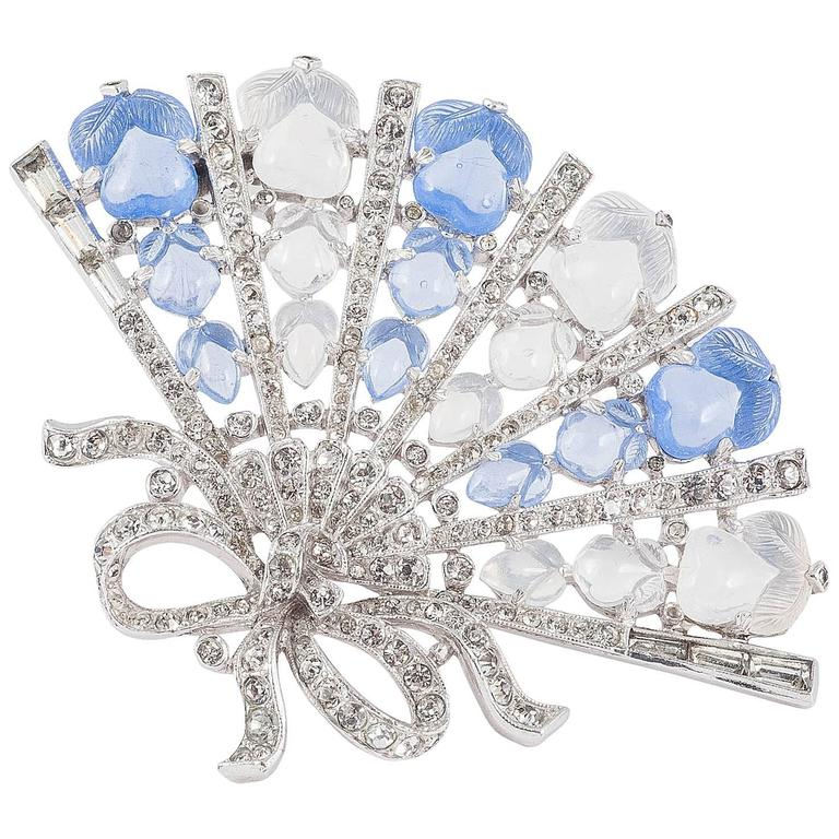 Iconic Trifari Cartier style 'fan' brooch 1