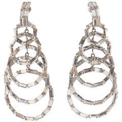 Glamorous Vendome paste 'circle' drop earrings