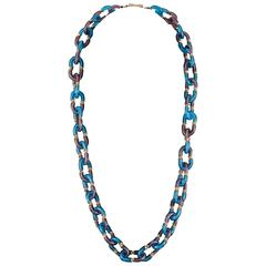 Archimede Seguso blown glass ring necklace 1960s