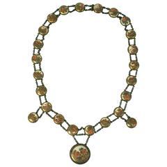 19th Century Satsuma Button Necklace