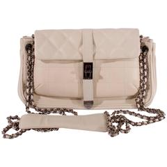 Chanel Iridescent Micro Flap Bag Ivory Sequins Gold For