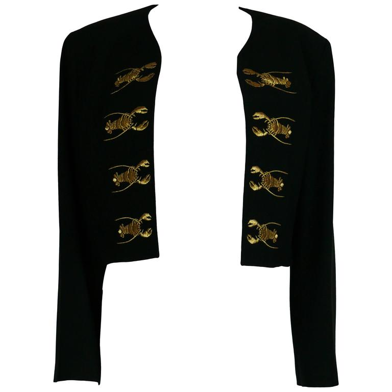 Moschino Couture Vintage Rare Iconic 1989 Black Lobster Blazer