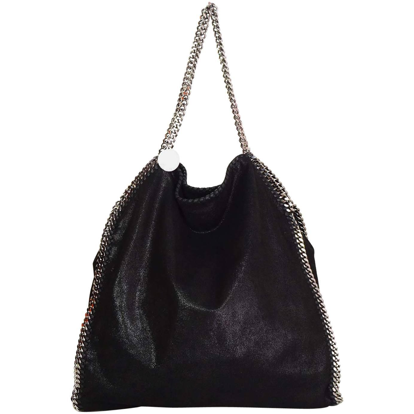 stella mccartney black falabella tote with shw for sale at 1stdibs. Black Bedroom Furniture Sets. Home Design Ideas