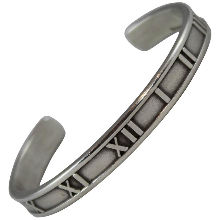 fdd561ca9 Tiffany and Co. Sterling Silver Atlas Thin Cuff - 1995 at 1stdibs
