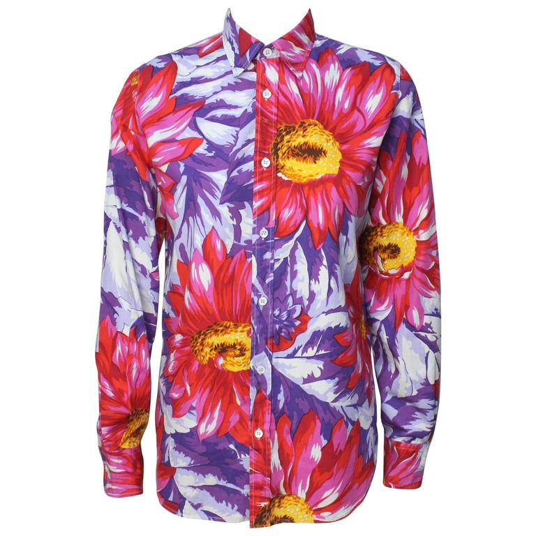 Dolce and Gabbana Bold Floral Print Blouse