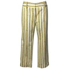 Dolce and Gabbana Gold Chain Print Pants