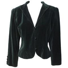Vintage Yves Saint Laurent Tyrolean Inspired Croped Velvet Jacket