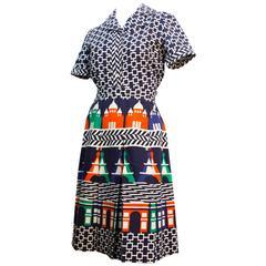 70s Lanvin Shirt and Skirt Set