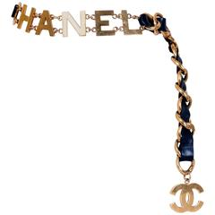 Chanel Leather & Chain C O C O  C H A N E L Belt