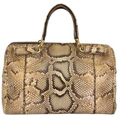 Dolce And Gabbana Python Miss Sicily Bowling Bag