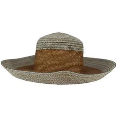 Suzanne Couture Millinery Ivory and Beige Straw Hat