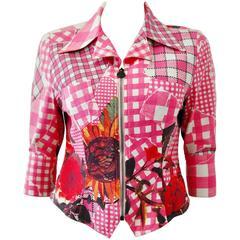 Unique Bazar de Christian Lacroix Floral Check Print Jacket