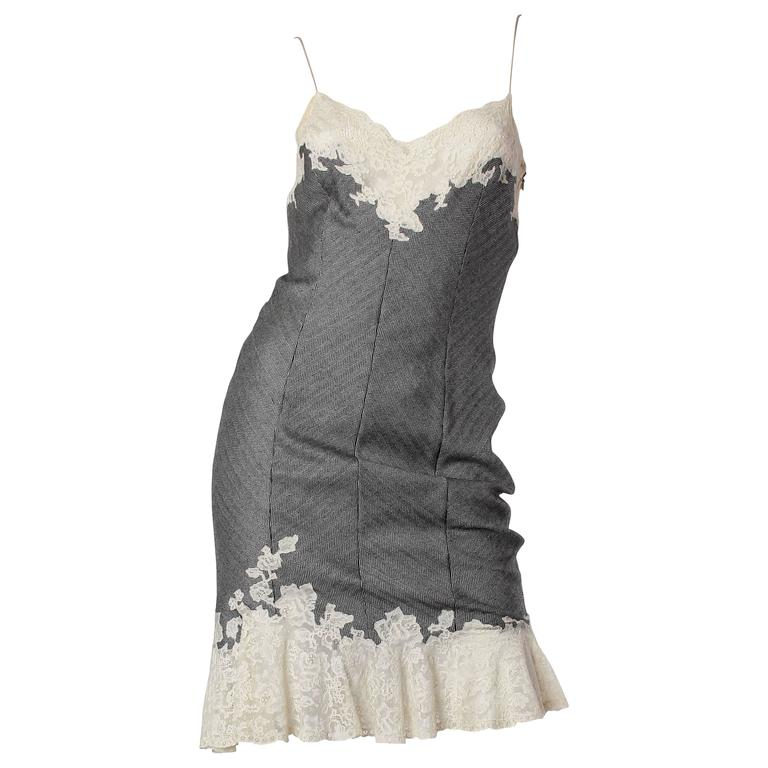 John Galliano for Christian Dior Dress with Chainmail For Sale at ...
