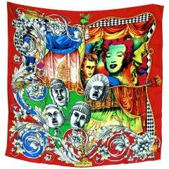 Versace Silk Scarf 35in Pop Art Fondazione Antonio Ratti Marilyn Monroe Rare
