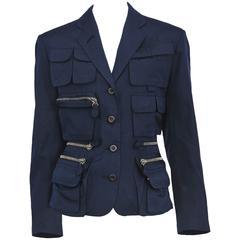 Jean Paul Gaultier Blue Utilitarian Blazer