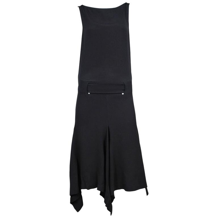 Alexander McQueen Black Dress with Cut Out Back