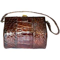 40s Alligator Handbag