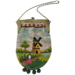 20s Beaded Purse w/ Windmill Scene