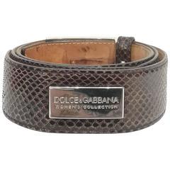 Dolce & Gabbana Brown python skin Belt