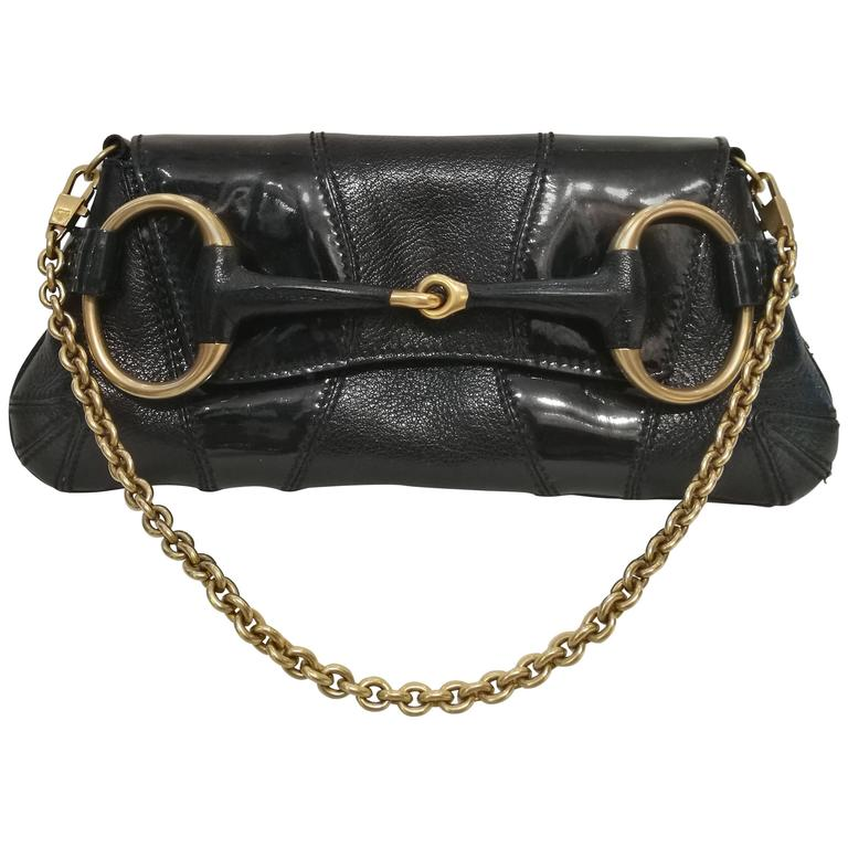 04dca803369 Gucci Horsebit Black Leather Bag By Tom Ford At 1stdibs