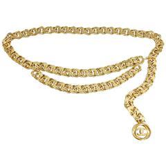 Chanel Vintage Spring 1987 Gold Chain Belt