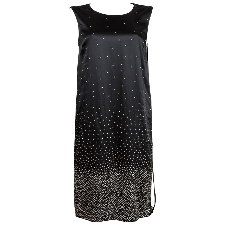 Maison Martin Margiela  ombre studded black slip dress, C. 2012