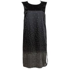 Maison Martin Margiela  ombre studded black slip dress, C. 2012