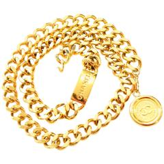 Chanel Heavy Gold Chain Belt Coin Medallion As New in Original Bag
